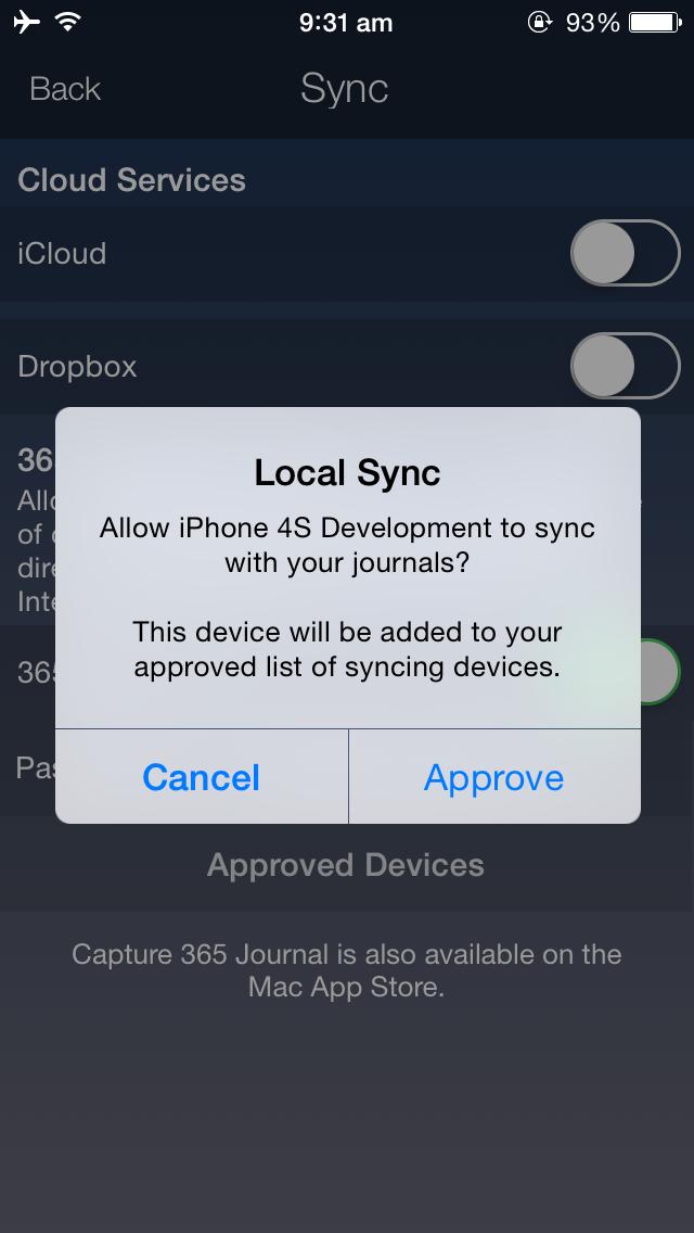 Approve iOS