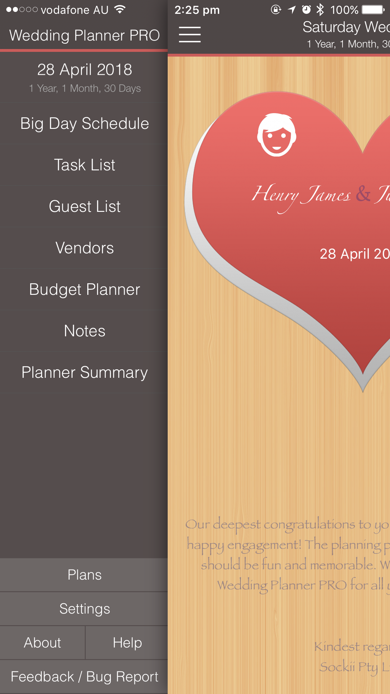 Wedding Planner PRO - Plans iPhone