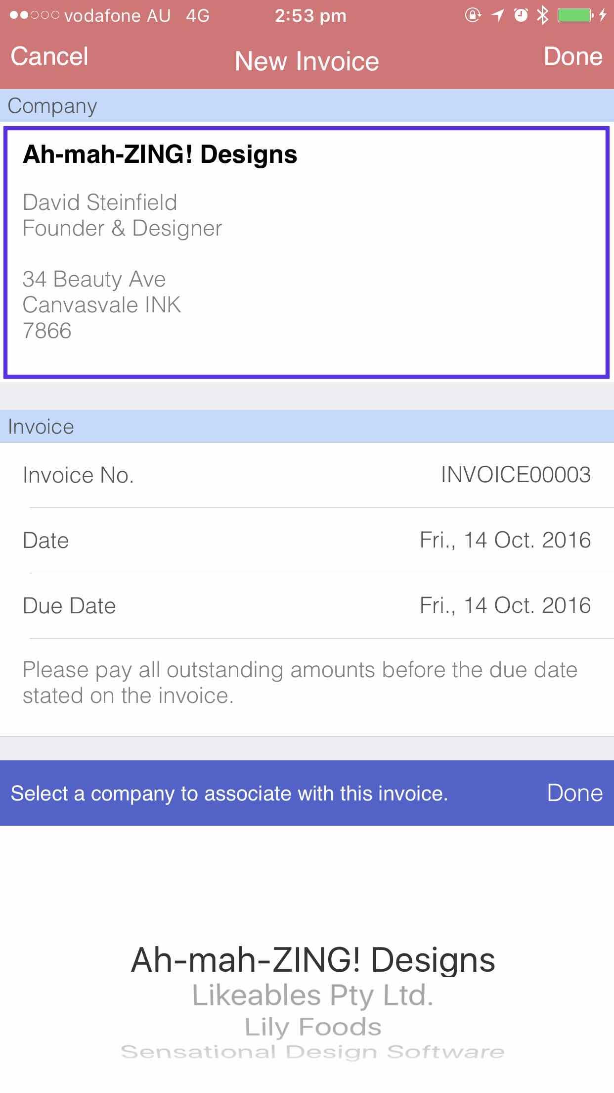 Switching companies iOS